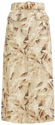 Zimmermann Super Eight Safari Midi Skirt