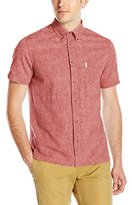Ben Sherman Men's Short Sleeve Linen Button-Down Shirt