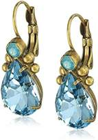 "Sorrelli Washed Pastels"" Pear Crystal Drop Earrings"