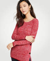 Ann Taylor Marled Side Button Sweater