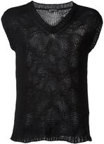 Ann Demeulemeester shortsleeved jumper - men - Cotton/Cashmere - M