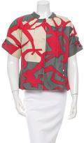 Piazza Sempione Printed Short Sleeve Jacket