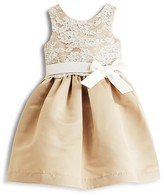 Us Angels Girls' Lace Overlay Dress - Little Kid