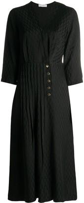 Sandro V-Neck Midi Dress