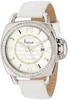 Freelook Women's HA1093-9 White/Silver Swarovski Leather Watch