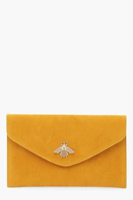 boohoo Metal Bug Envelop Clutch Bag