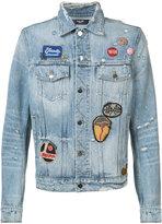 Amiri - embroidered denim jacket - men - Cotton - M