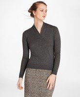 Brooks Brothers Silk-Cashmere Shawl-Collar Sweater