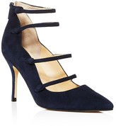 Ivanka Trump Dritz Suede Strappy Pointed Toe Mary Jane Pumps - 100% Bloomingdale's Exclusive