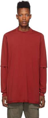 Rick Owens Red Hustler T-Shirt
