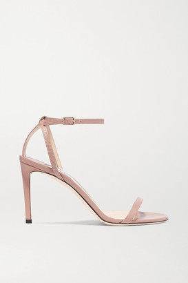 Jimmy Choo Minny 85 Leather Sandals - Antique rose