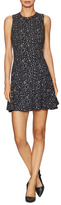 Alice + Olivia Garner Cotton Intarsia Fit And Flare Dress