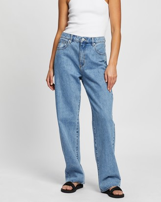Abrand - Women's Blue Wide leg - A Slouch Jeans - Size 24 at The Iconic