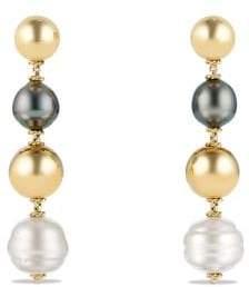 David Yurman Solari Bead And Chain Drop Earrings In 18K Gold