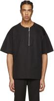 Wooyoungmi Black Front Zip T-shirt