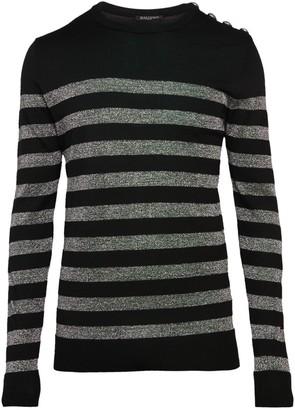 Balmain Metallic Stripe Sweater