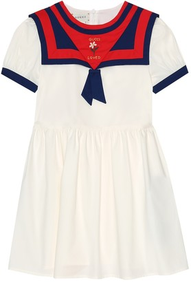 Gucci Kids Stretch-cotton sailor dress