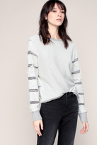 Iro Sweat Fin Gris Clair Tissage