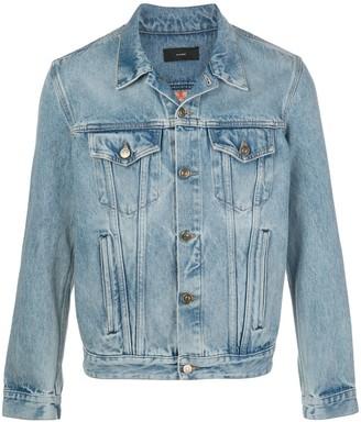 Alanui Knitted Panel Denim Jacket