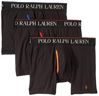 Polo Ralph Lauren 3-Pack 4D-Flex Cool Microfiber Boxer Briefs (Charcoal Grey/Rugby Royal/Polo Black) Men's Underwear