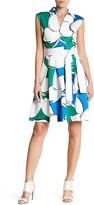 Sandra Darren Sleeveless Surplice Tie Waist Dress