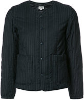 Engineered Garments collarless fitted jacket - women - Cotton/Polyester/Wool - 1