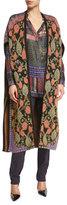 Etro Floral-Vine Intarsia Knit Vest, Red/Purple