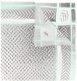 Lala Berlin Kufiya pattern mix scarf