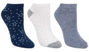 Cuddl Duds Women's 3-Pk Star Dot Low-Cut Socks