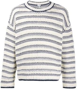 Loewe Striped Textured-Knit Sweater