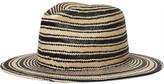 Rag & Bone Striped Straw Panama Hat - Beige