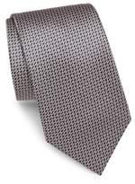 Brioni Oval Bar-Print Silk Tie