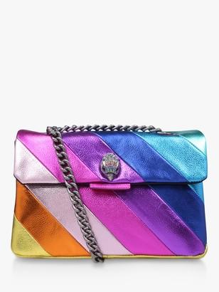 Kurt Geiger Kensington Rainbow Leather Cross Body Bag, Multi