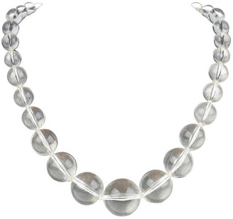 One Kings Lane Vintage Clear Lucite Bead Necklace - Galleria d'Epoca