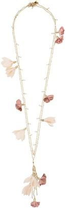 Rosantica Sentiero flower charm necklace