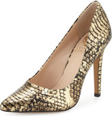 Vince Camuto Kain Snake-Print Pointed-Toe Pump, Multi Gold