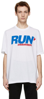 DSQUARED2 White Run Slouch T-Shirt
