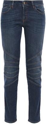 Just Cavalli Moto-style Mid-rise Slim-leg Jeans
