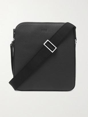 HUGO BOSS Crosstown Full-Grain Leather Messenger Bag