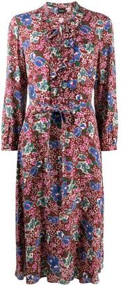 Aspesi Floral-Print Ruffled Dress