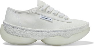 Alexander Wang A1 Textured Rubber-paneled Canvas Sneakers