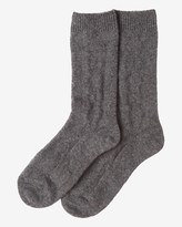 Toast Textured Wool Socks