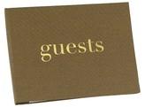 Hortense B. Hewitt Golden Linen Guest Book