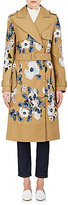 Erdem Women's Susan Embroidered Belted Cotton Trench Coat