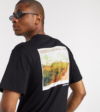 Reclaimed Vintage inspired art print t shirt in black