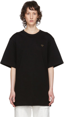 Juun.J Black Graphic T-Shirt