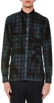 Lanvin Oversized Plaid Long-Sleeve Sport Shirt, Blue