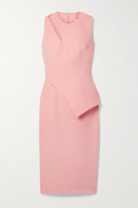 Safiyaa Amanda Layered Cutout Crepe Midi Dress - Baby pink