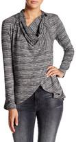 Bobeau Hacci One Button Sweater (Petite)