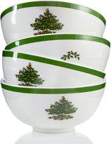 Spode Christmas Tree Set/4 Melamine Bowl
